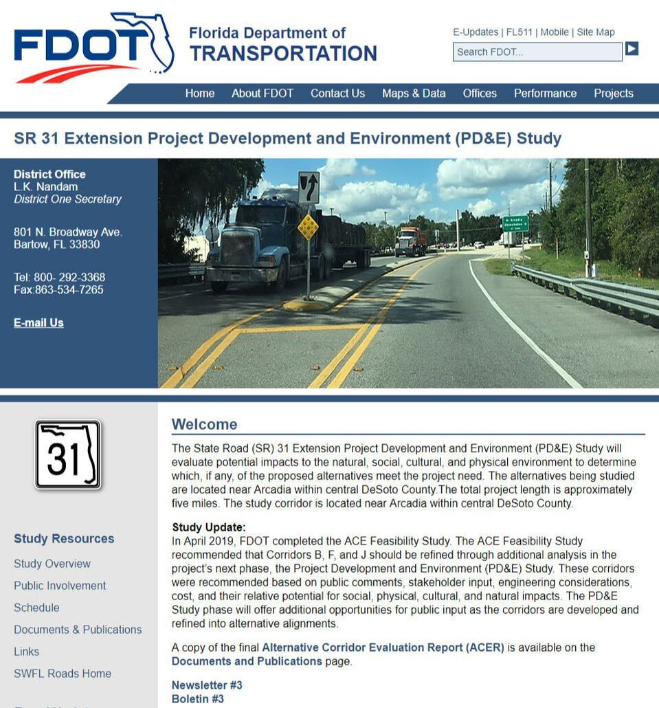 FDOT Project Websites